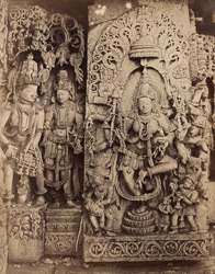 Lakshmi. [Sculpture on the Hoysalesvara Temple, Halebid.]